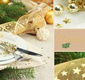 Beautiful Christmas setting — Stock Photo