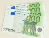 Euro banknotes isolated on white — Stok fotoğraf