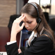 Call center operator at wor — Stock Photo #26546807