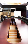 Interior of empty conference room — Стоковое фото