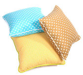 Three pillows isolated on white — 图库照片