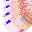 Euro banknotes isolated on white — Stock Photo #26593883