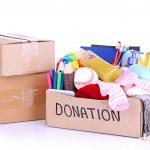 Donation box isolated on white — Stock Photo #26606221