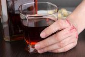 Problem of alcoholism close-up — Stock Photo