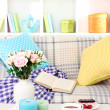 Close up on trendy modern living room — Stock Photo