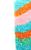 Colorful crystals of sea salt close up — Stock Photo
