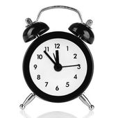 Old style alarm clock isolated on white — Stock Photo