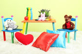 Modern child's room with equipment and toys — Stock Photo
