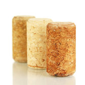Wine corks isolated on white — Foto de Stock