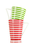 Cups on white background — Stock Photo