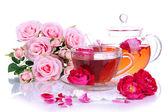 Rose tea close up — Stock Photo