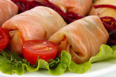 Stuffed cabbage rolls close-up — Stock Photo
