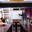 Bored business training at office — Stock Photo