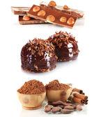 Collage of dessert — Stock Photo