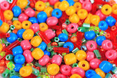 Different colorful beads close-up — Stock Photo