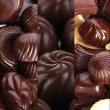 Chocolate collage — Stock Photo