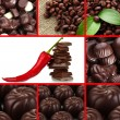 Chocolate collage — Stock Photo #27094263