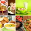 Collage bar food — Stock Photo