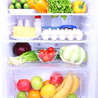 Refrigerator full of food — Foto Stock