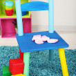 Small and colorful chair for little kids — Stock Photo