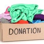 Donation box isolated on white — Stock Photo #27112829