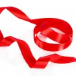 Red ribbon isolated on white — Stock Photo
