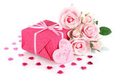 Romantic parcel isolated on white — Stock Photo