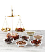 Sale of different spices — Stock Photo