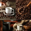 Coffee collage — 图库照片