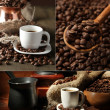 kaffee collage — Stockfoto