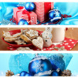 Christmas Holiday Collage — Stock Photo