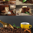 Coffee collage — Foto de stock #27316445