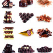 Chocolate candy collection isolated on white — Stock Photo