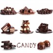 Chocolate collage — Stock Photo #27316529