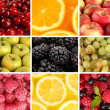 Stock Photo: Colorful healthy fruit collage