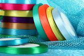 Bright ribbons close-up — Stock Photo