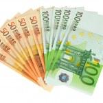 Euro banknotes isolated on white — Stock Photo #27369879