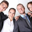 Business team working together in office close up — Stock Photo