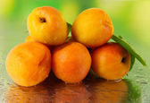 Apricots on nature background — Stockfoto