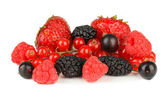 Ripe berries isolated on white — Stock Photo
