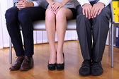 Stressful waiting for job interview — Stock Photo