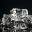 Ice cubes isolated on black — Stock Photo