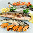Fresh seafood on ice — Stock Photo #27466679
