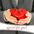 Man present gift box — Stock Photo
