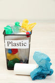 Bucket for waste sorting on room background — Stock Photo