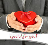 Man present gift box — Stock Photo