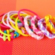 Stock Photo: Scrunchies on orange background