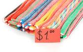 Vendita di caramelle di gelatina dolce isolato su bianco — Foto Stock