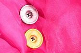 Two buttons on pink background — Zdjęcie stockowe