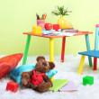 Modern child's room with equipment and toys — Stock Photo #27499697